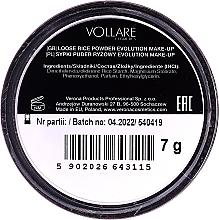 Polvo suelto fijador de maquillaje, efecto mate - Vollare Cosmetics Evolution Make-up Rise Powder — imagen N2