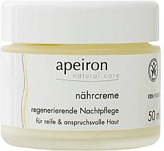 Perfumería y cosmética Crema de noche regeneradora con aceite de caléndula - Apeiron Nourishing Regenerating Night Cream