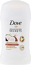 Perfumería y cosmética Stick desodorante de coco y jazmín - Dove Nourishing Secrets Restoring Ritual Deodorant