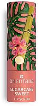 Perfumería y cosmética Exfolainte labial vegano de azúcar de caña, aroma dulce - Orientana Sugarcane Sweet