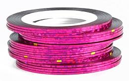 Perfumería y cosmética Cinta holográfica para decoración de uñas, rosa - Deni Carte