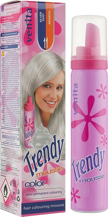 Mousse para coloración de cabello semipermanente sin amoníaco - Venita Trendy Color Mousse — imagen N1