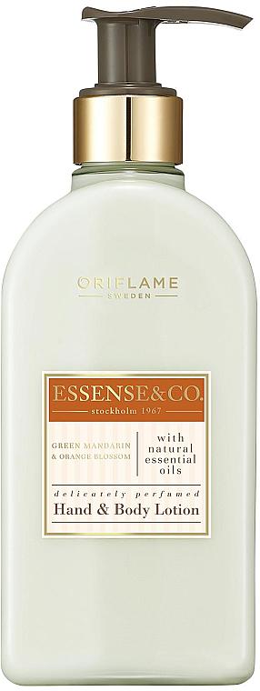 Loción de manos y cuerpo perfumada con mandarina verde y flor de azahar - Oriflame Essense & Co.