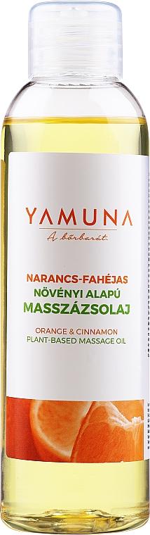 Aceite de masaja corporal natural de naranja y canela - Yamuna Orange-Cinnamon Plant Based Massage Oil