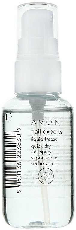 Spray secante de uñas - Avon Nail Experts Liquid Freeze Quick Dry Nail Spray