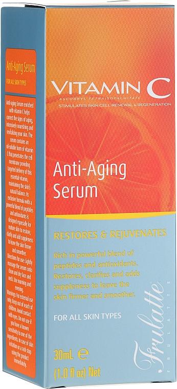 Sérum facial antienvejecimiento con vitamina C, aceite de argán y té verde - Frulatte Vitamin C Anti-Aging Face Serum