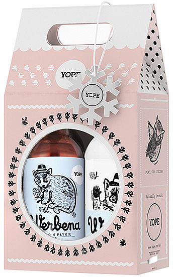 Set de cuidado corporal natural, aroma a verbena - Yope Verbena Natural Set (bálsamo corporal/300ml + jabón líquido/500ml) — imagen N1