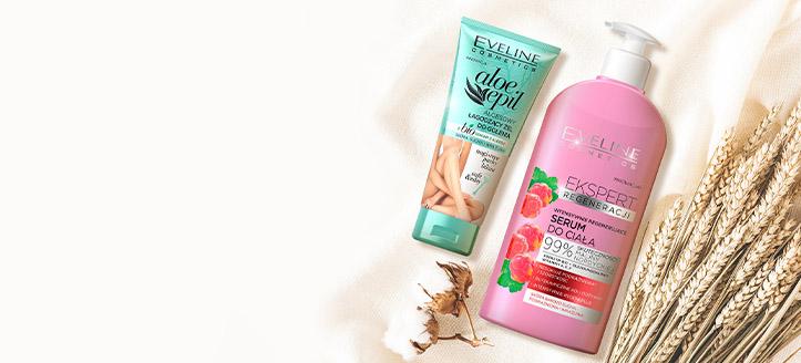 Descuentos en productos promocionales de cuidado corporal de Eveline Cosmetics. Los precios indicados tienen el descuento aplicado