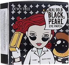 Perfumería y cosmética Parches para contorno de ojos de hidrogel con polvo de perla, caviar y oro - Dewytree Real Gold Black Pearls Eye Patch
