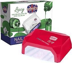 Perfumería y cosmética Lámpara CCFL+LED para manicura, roja - Ronney Profesional Lucy CCFL + LED 38W (GY-LCL-021) Lamp