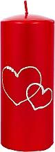Perfumería y cosmética Vela decorativa color rojo 7x17cm - Artman Forever
