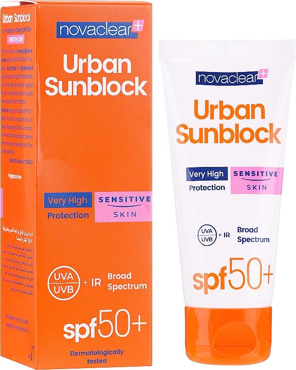 Crema facial piel sensible - Novaclear Urban Sunblock Protective Cream Sensitive Skin SPF50