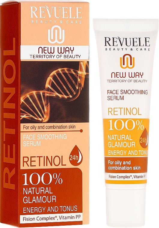 Sérum facial hidratante efecto lifting con retinol y vitamina PP - Revuele Retinol Face Smoothing Serum Moisturise Tone Hydrate Lift Firm Skin