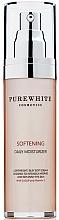 Perfumería y cosmética Crema facial hidratante con coenzima Q10 y vitamina E - Pure White Cosmetics Softening Daily Moisturizer