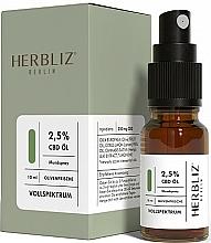 Perfumería y cosmética Spray bucal 100% natural vegano con aceite de oliva y 2,5% CDB - Herbliz Olive Fresh CBD Oil Mouth Spray 2,5%