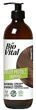 Perfumería y cosmética Champú protector de cabello marrón con extracto de menta - DeBa Bio Vital Colour Revive Brunette
