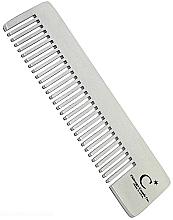 Perfumería y cosmética Peine de acero inoxidable con púas medianas-finas, 10cm - Chicago Comb Co CHICA-4-ST Model №4