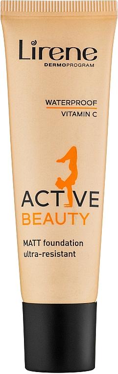 Base de maquillaje ultra resistente de larga duración con efecto mate - Lirene Active Beauty Matt Foundation Ultra-Resistant