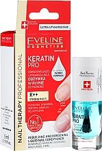 Perfumería y cosmética Tratamiento de reconstrucción de uñas con aceites de limón y eucalipto - Eveline Cosmetics Nail Therapy Professional Keratin Pro