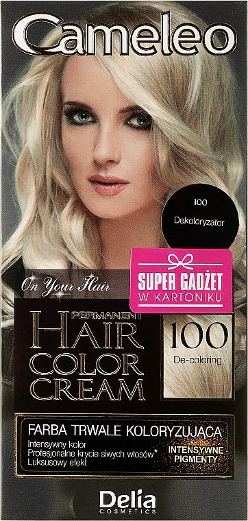 Crema decolorante para cabello №100 - Delia Cameleo De-Coloring Cream