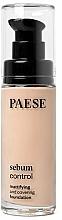 Perfumería y cosmética Base de maquillaje matificante de cobertura alta para pieles grasas y mixtas con microesponjas - Paese Sebum Control