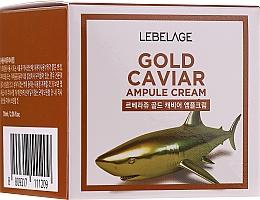 Perfumería y cosmética Crema facial con extracto de caviar - Lebelage Ampoule Cream Gold Caviar