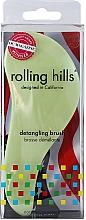 Perfumería y cosmética Cepillo de pelo desenredante, verde claro, formato viaje - Rolling Hills Detangling Brush Travel Size Light Green