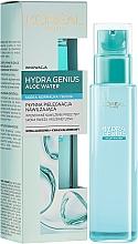Perfumería y cosmética Fluido facial hidratante con agua de aloe - L'Oreal Paris Hydra Genius Aloe Water