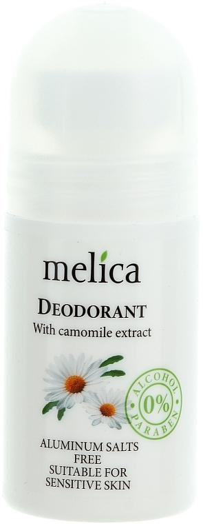 Desodorante roll-on con extracto de camomila - Melica Organic With Camomille Extract Deodorant