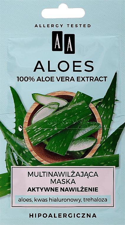 Mascarilla facial hipoalergénica con ácido hialurónico y extracto de aloe - AA Aloes Face Mask