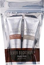 Perfumería y cosmética Scottish Fine Soaps Silver Buckthorn Travel Pack - Set en formato viaje (champú-gel de ducha/75ml + limpiador facial/75ml + manteca corporal/75ml)