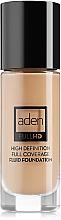 Perfumería y cosmética Base de maquillaje fluida, cobertura total , sin aceites ni parabenos - Aden Cosmetics High Definition Fluid Foundation