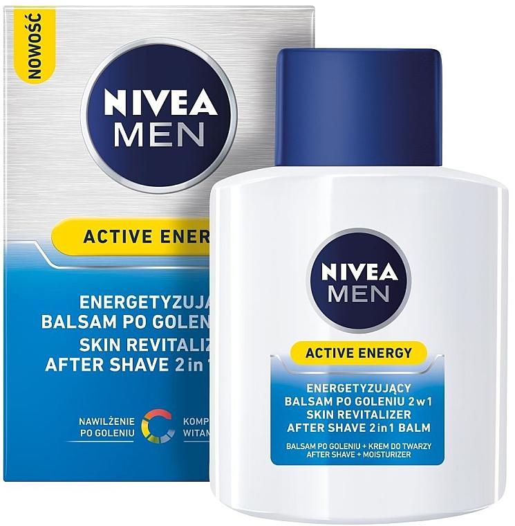 Bálsamo aftershave revitalizante 2en1 - Nivea For Men Active Energy Skin Revitalizer After Shave Balm — imagen N1