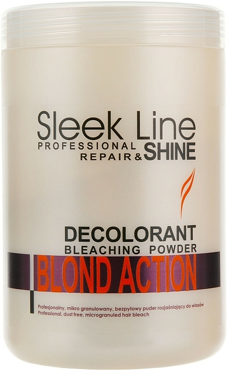 Decolorante de cabello microgranulado 3-7 niveles, sin polvo - Stapiz Sleek Line Repair & Shine Blond Action
