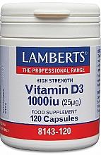 Perfumería y cosmética Complemento alimenticio de vitamina D3, en cápsulas 1000 IU (25mg) - Lamberts Vitamin D3 1000 IU