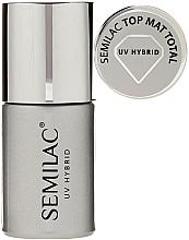 Perfumería y cosmética Top coat gel mate, UV - Semilac UV Hybrid Top Mat