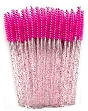Perfumería y cosmética Cepillos de nailon para pestañas Crystal, rosa fucsia - Novalia Group