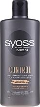 Perfumería y cosmética Champú acondicionador profesional con aceite de ricino - Syoss Men Control 2-in-1 Shampoo-Conditioner