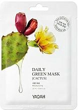 Perfumería y cosmética Mascarilla facial de tejido con extracto de cactus y ácido hialurónico - Yadah Daily Green Mask Cactus