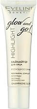 Perfumería y cosmética Iluminador para rostro y cuerpo nutritivo - Eveline Cosmetics Highlight Glow And Go
