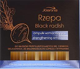 Perfumería y cosmética Ampollas para cabello con extracto de rábano negro y mentol - Joanna Turnip Description Strengthening Ampoules