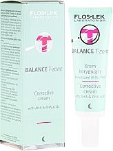 Perfumería y cosmética Crema facial correctora zona T con ácido AHA y PHA - Floslek Balance T-Zone Corrective Cream