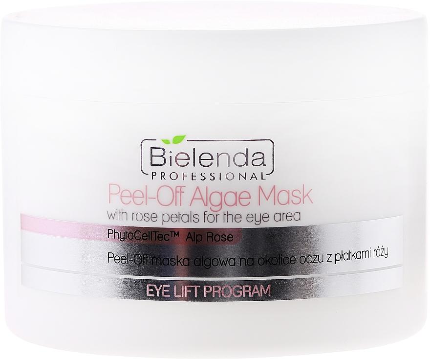 Mascarilla para contornno de ojos de algas con pétalos de rosa - Bielenda Professional Eye Lift Program Peel-Off Algae Mask