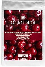 Perfumería y cosmética Mascarilla para contorno de ojos de tejido con extracto de cereza japónica - Orientana Eye Silk Pad Japanese Cherry
