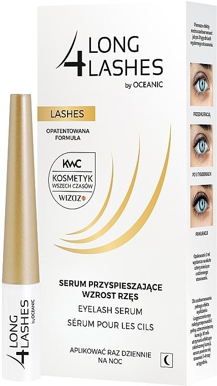 Sérum de noche para pestañas con ácido hialurónico y provitamina B5 - Long4Lashes Eyelash Enhancing Serum