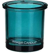 Perfumería y cosmética Portavelas de cristal verde azulado - Yankee Candle POP Teal Tealight Votive Holder