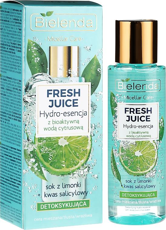 Hidroesencia facial de lima y ácido salicílico - Bielenda Fresh Juice Detoxifying Face Hydro Essence Lime