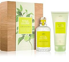 Perfumería y cosmética Maurer & Wirtz 4711 Aqua Colognia Lime & Nutmeg - Set (agua de colonia/170ml + gel de ducha/200ml)