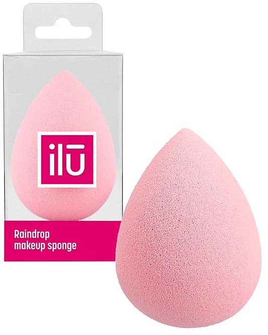 Esponja de maquillaje, rosa - Ilu Sponge Raindrop Pink