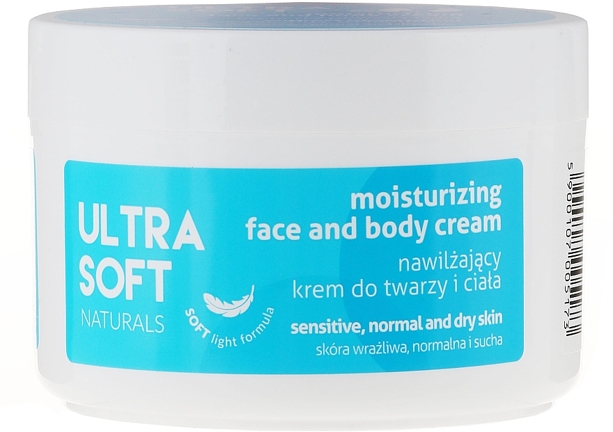 Crema hidratante para rostro y cuerpo con extractos de rosa centifolia y aloe vera - Tolpa Ultra Soft Naturals Moisturising Face and Body Cream
